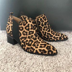 Franco Sarto leopard booties- 9.5